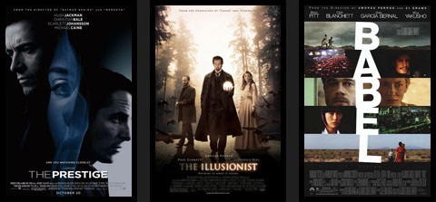 filmy: The Last King of Scotland. Catch a Fire. The Illusionist. Conversations With God.