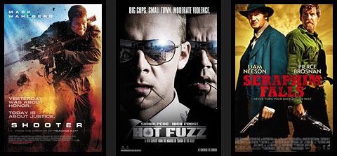Zapowiedzi filmowe: Shooter, Hot Fuzz, Seraphim Falls.