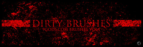 9gods.com Photoshop Brushes Vol.I - Dirty